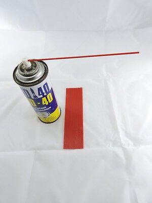 """10 x WD40 Little Red Straws 6 """" Tubes for Can spray Nozzle tip Rust Oil Nozzle"""