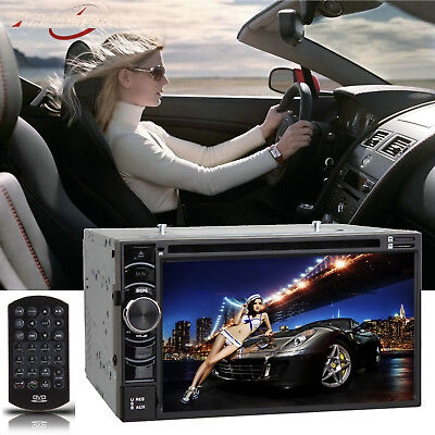 """Double 6.2"""" 2Din Car Radio Cd Dvd Player Stereo Bluetooth Usb Sd Fm Touch Screen"""