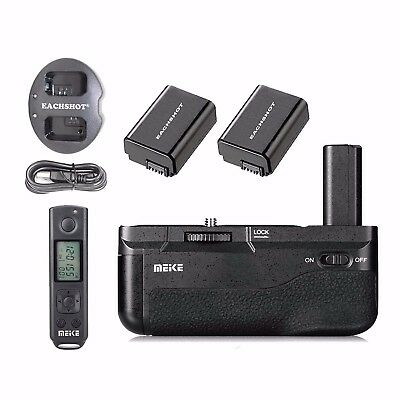 Meike MK-A6500 Pro Battery Grip 2.4G Remote Control for Sony A6500 + 2*NP-FW50