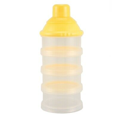 1x Portable Baby Infant Feeding Milk Powder&Food Bottle Container 4 Cells Gri FP