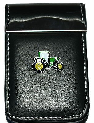 John Deere Green Tractor Leather Manicure Set Gift Boxed Male Grooming Nailcare