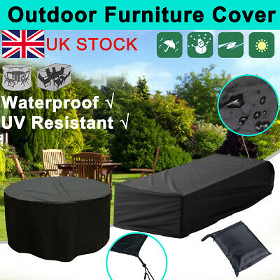 Water Resistant Garden Furniture Cover Patio Outdoor Table Cover 4/6/8/10 Seater