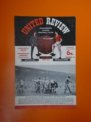 League Division One - Manchester Utd v Wolverhampton Wanderers - 28th March 1964