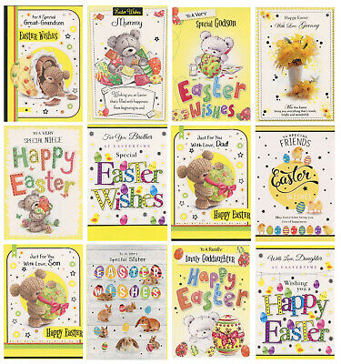 Relations Family Friends Or Open Easter Card 1St P&P Lots Of Choice L@@K