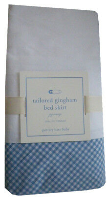 Pottery Barn Baby Tailored Gingham Crib Bed Skirt