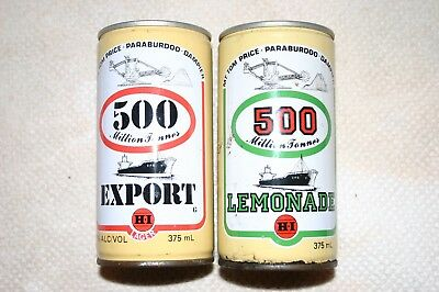Rare Pair Beer Lemonade Cans Plus Bonus Can & Sheet.
