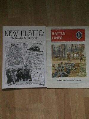 2 X Ulster Unionist Heritage Magazines New Ulster + Battle Lines Somme 1999