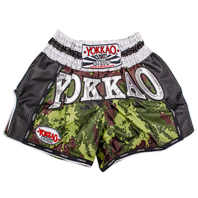 YOKKAO Green Army Carbon Muay Thai Boxing Shorts