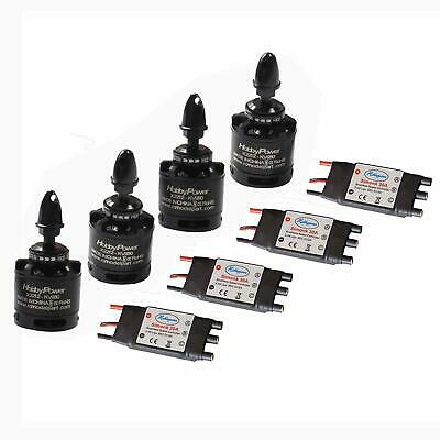 4sets HP X2212 980KV Brushless Motor + SimonK 30A ESC for F450 S500 Quadcopter
