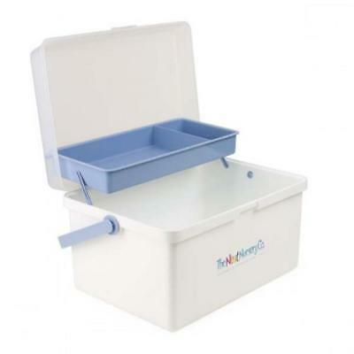 The Neat Nursery Baby box/Organiser -Blue/White