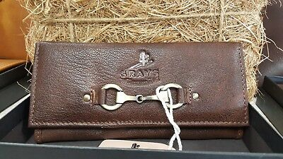 Grays Lily purse inn fine leather brown