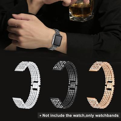38mm Crystal Stainless Steel Smart Watch Band Wrist Strap For Apple Watch 1 2 3