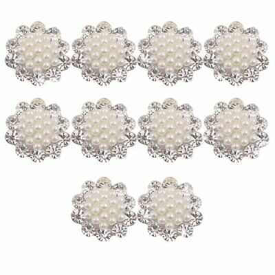 Faux Pearl Flower Buttons Craft Embellishments 20mm Pack of 10 FP