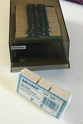 Vtg Rolodex Business Card Organizer VIP-24C Rotary A-Z Covered Unused Blank Card