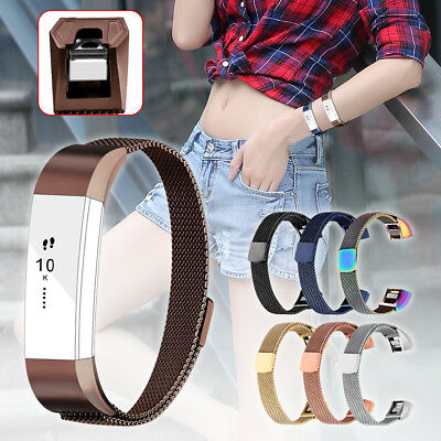 Replacement Milanese Magnetic Loop Bracelet Strap Watch Band For Fitbit Alta