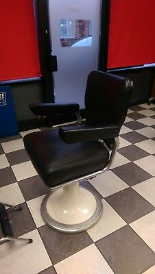 """Vintage Barber Chairs. Five matching 1940's La Reine classic """"Restocrat"""" chairs."""