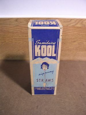 Kool Sipping Straws Crown Baking Company Malden MA