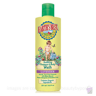 Jason Earth's Best ORGANIC BABY Shampoo and Body Wash 2-in-1 Lavender, 251ml