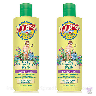 PACK OF 2 Jason Earth's Best ORGANIC BABY Shampoo and Body Wash 2-in-1, 2x251ml