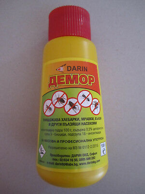 STRONG POWDER DEMOR 100gr.-INSECT KILLER-ANT,FLEA,BEDBUG,SILVERFISH,COCKROACH