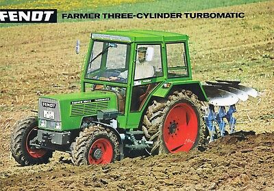 fendt farmer 3 zylinder traktor tractor prospekt brochure englisch eur 10 50 picclick de. Black Bedroom Furniture Sets. Home Design Ideas