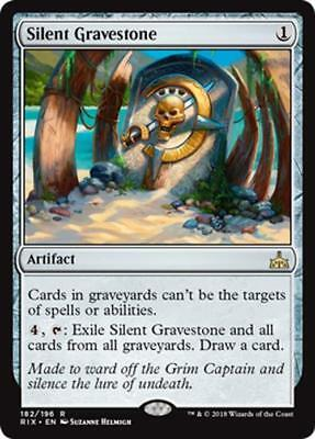 SILENT GRAVESTONE – NM/M ~ Rivals of Ixalan ~ Rare – Colorless Artifact – MTG