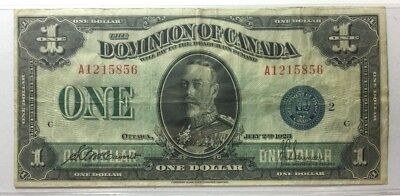 1923 Dominion of Canada One Dollar Note SKU#14002