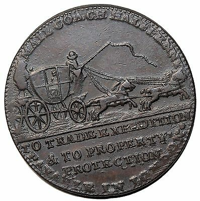 1797 Great Britain Middlesex Palmer's Mail Coach Halfpenny Conder Token D&H-364
