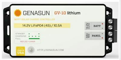 Genasun Gv-10-Li-14.2V Mppt Charge Controller For Lithium Batteries
