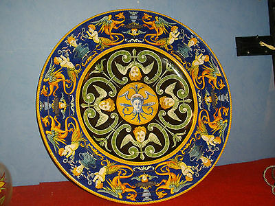 Grand Plat Faience  Nevers Marie Luanges  50 Cm 1873
