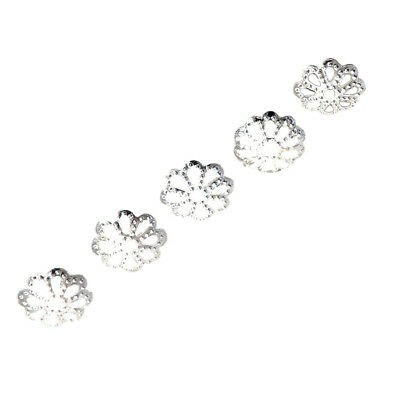 100pcs 6mm Fine Bright Silver Plated Daisy Spacer Beads for Bead cover DIY Je FP