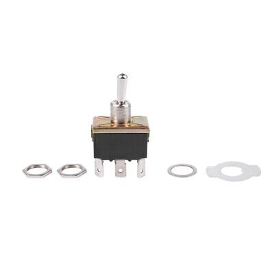 AC 250V/10A 125V/15A DPDT 3 Position ON/OFF/ON 6 Pins Toggle Switch Black+Sil FP
