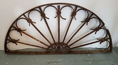 Antique Egyptian Iron Transom, Hand Wrought