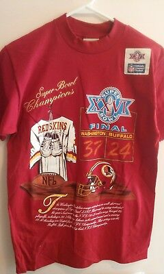 BUFFALO BILLS VS. Washington Redskins-Super Bowl Xxvi-Vintage 1992 ... a9e85be05