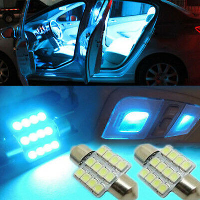 Universal Ice Blue 31mm 12smd LED DE3175 Bulbs For Car Interior Dome Map Lights