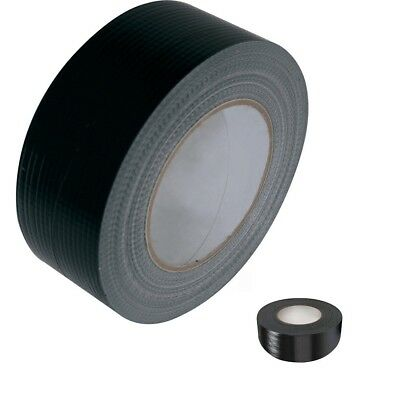 "DUCK DUCT GAFFER GAFFA WATERPROOF CLOTH TAPE  48mm 2"" X 50M 5 ROLLS BLACK"