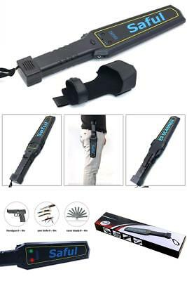Portable Security Hand Held Metal Detector Wand Scanner Audio Alert LED Indicat