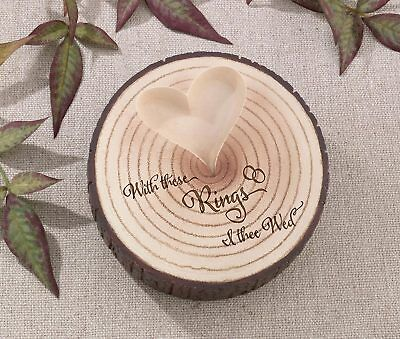 Tree Trunk Ring Holder With These Rings  Cushion Alternative Wedding
