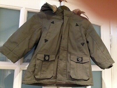 Vgc Miracle Of Love Khaki Duffle Coat Age 36 Months