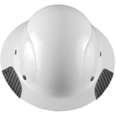 NEW LIFT SAFETY HDF-15WG DAX FULL BRIM WHITE HARD HAT w/ RATCHET SUSPENSION
