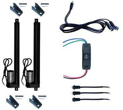 2pcs Linear Actuator 12V + UP Down Switch + Mounting Brackets+ Connectors