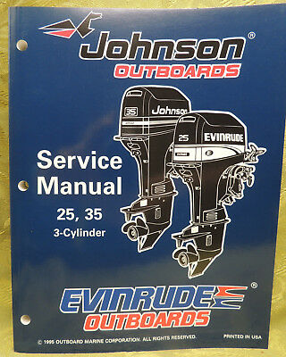 1996 Johnson Outboards Service Manual 25 35 HP Evinrude 3 - Cylinder