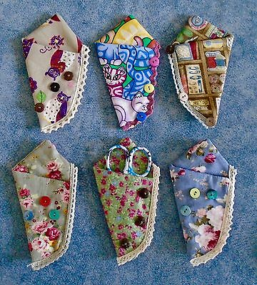 Magnetic Embroidery Scissor Case Padded Fabric Choices Cross Stitch Neodymium