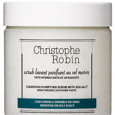 New Christophe Robin Womens Cleansing Purifying Scrub With Sea Salt