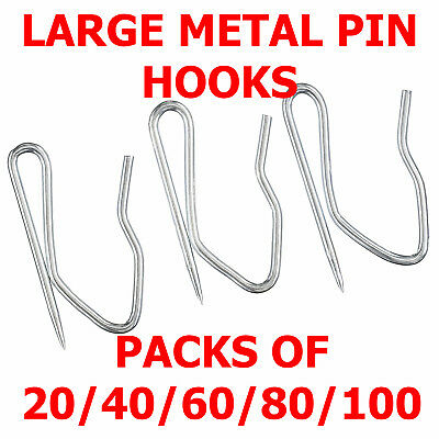 Curtain Hooks Metal  Pin Pinch Pleat  - Pack Of 10 / 20 / 40 / 60 / 80 / 100