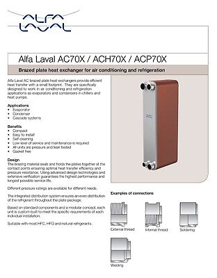 Alfa Laval Stainless Steel Heat Exchanger ACH 70X 14H F