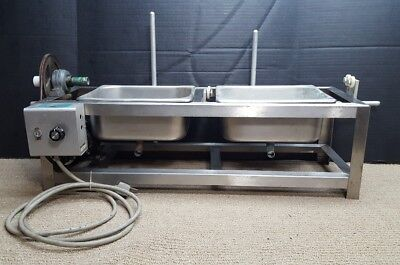 Buchler Horizontal Rotary Double Bath Flash Evaporator Unit Lab Equipment