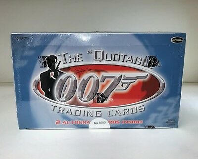 The Quotable James Bond 007 - Sealed Trading Card Hobby Box - USA Edition 2004