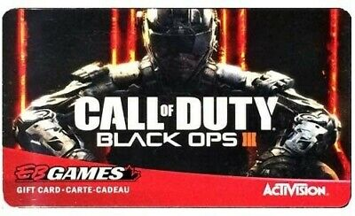 EB Games CALL OF DUTY - BLACK OPS 3 collectors gift card