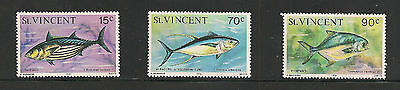 ST. VINCENT Scott 472 - 474 Fish MNH F-VF